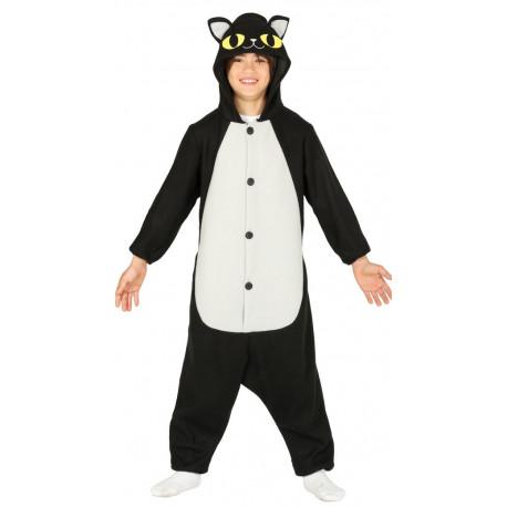 Disfraz de Gato Negro Pijama Infantil