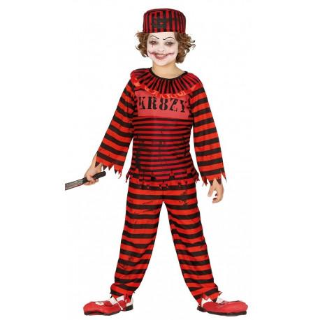 Disfraz de Payaso Asesino Preso Infantil