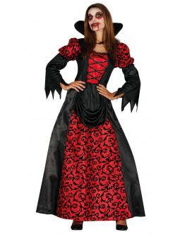 Disfraz de Vampiresa Roja y Negra para Mujer