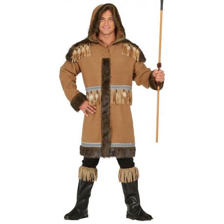 Disfraz de Esquimal Inuit Marrón para Hombre