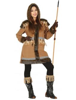 Disfraz de Esquimal Inuit Marrón para Mujer