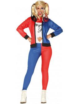 Disfraz de Harley Rubia para Mujer con Pantalón