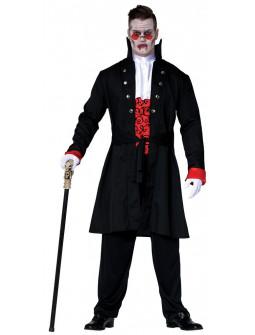 Disfraz de Vampiro Rojo y Negro para Hombre