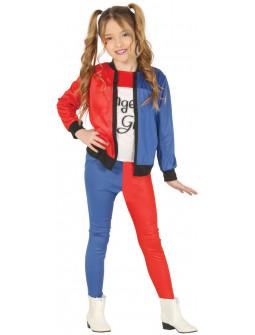 Disfraz de Harley Rubia para Niña con Pantalón