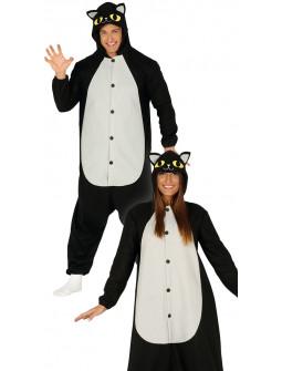 Disfraz de Gato Negro Pijama Adulto
