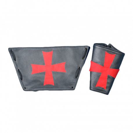 Brazalete Negro con Cruz Templaria Roja