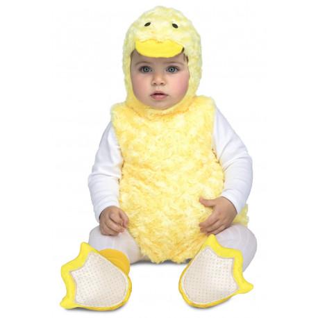Disfraz de Patito Amarillo de Peluche para Bebé