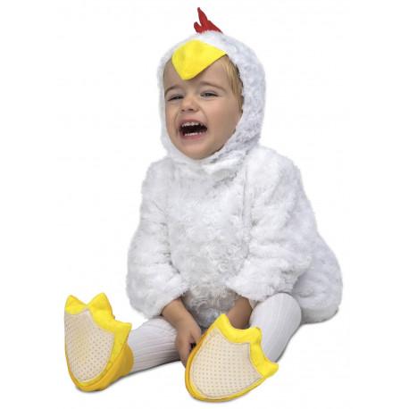 Disfraz de Pollito Blanco de Peluche para Bebé