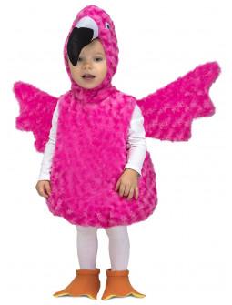 Disfraz de Flamenco Rosa de Peluche para Bebé