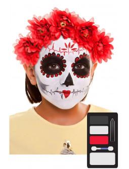 Kit de Maquillaje de Catrina Infantil