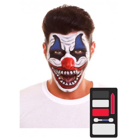 Kit de Maquillaje de Payaso Asesino para Adulto