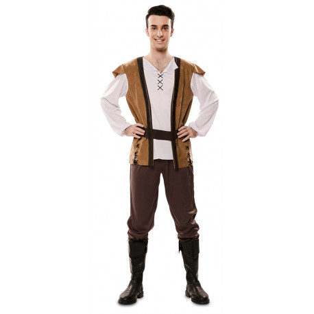 Disfraz de Mesonero Medieval Marrón para Hombre