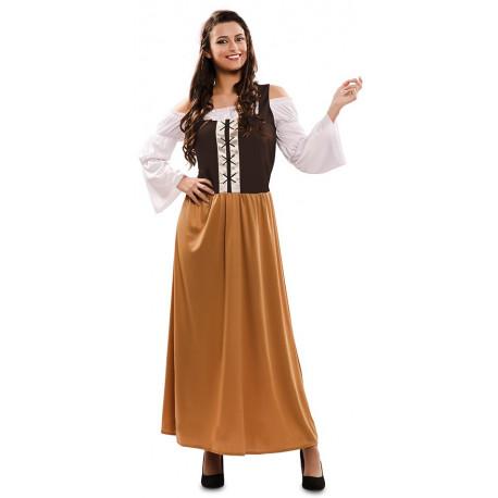 Disfraz de Mesonera Medieval Marrón para Mujer