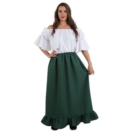Falda Medieval Verde Larga
