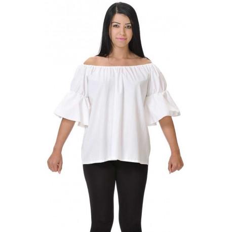 Camisa Blanca de Tabernera Medieval para Mujer