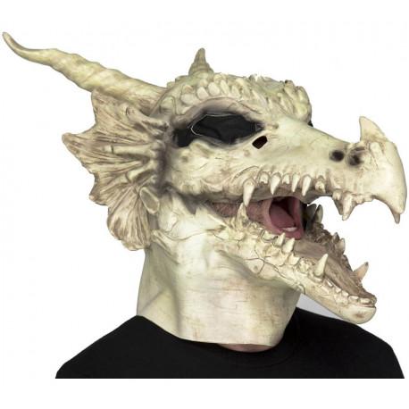 Máscara de Calavera de Dragón con Mandíbula Móvil