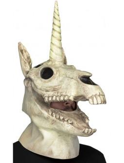 Máscara de Calavera de Unicornio con Mandíbula Móvil