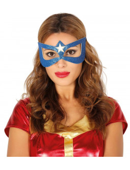 Antifaz Azul de Superheroína