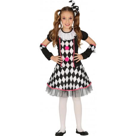 Disfraz de Arlequín Divertido para Niña