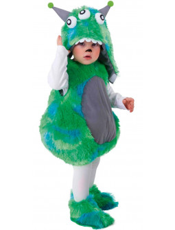 Disfraz de Alien de Peluche Verde para Bebé