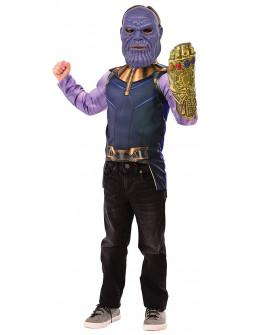 Disfraz de Thanos Musculoso con Guantelete para Niño