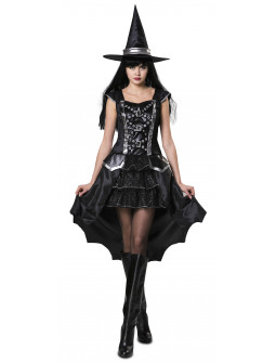 Disfraz de Bruja Elegante Negra para Mujer