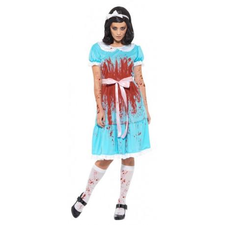 Disfraz de Gemela El Resplandor Sangrienta para Mujer