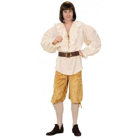 Pantalon bombacho en oro