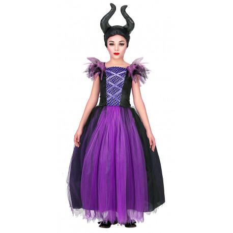 Disfraz de Bruja Maléfica para Niña