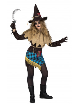 Disfraz de Espantapájaros Diabólico para Mujer