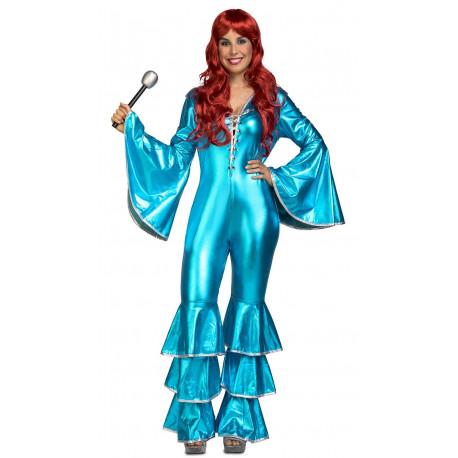 Disfraz Disco Azul Turquesa para Mujer