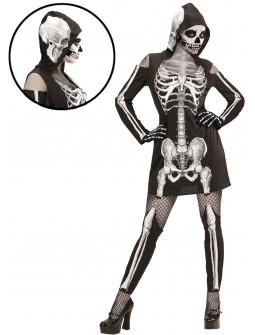Disfraz de Esqueleto Manga Larga para Mujer