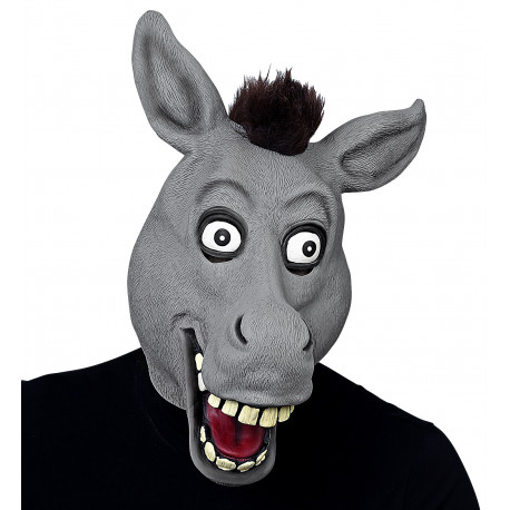Máscara de Asno de Látex con Pelo