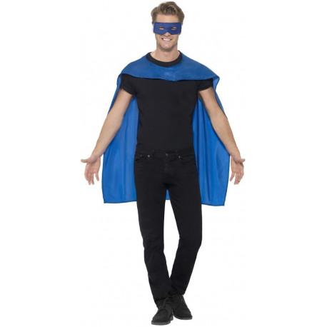 Capa Azul con antifaz Unisex