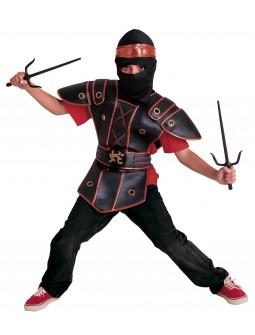 Disfraz de Ninja Negro con Peto para Niño