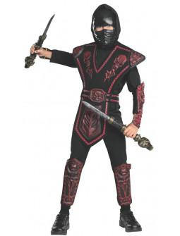 Disfraz de Ninja Oscuro con Armadura para Niño
