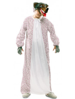 Disfraz de Lobo Vestido de Abuela para Adulto
