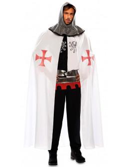 Capa Medieval Blanca de Caballero Templario