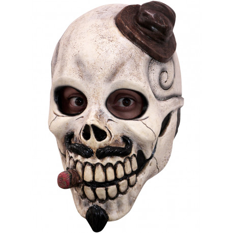 Máscara de Catrín Mexicano con Puro