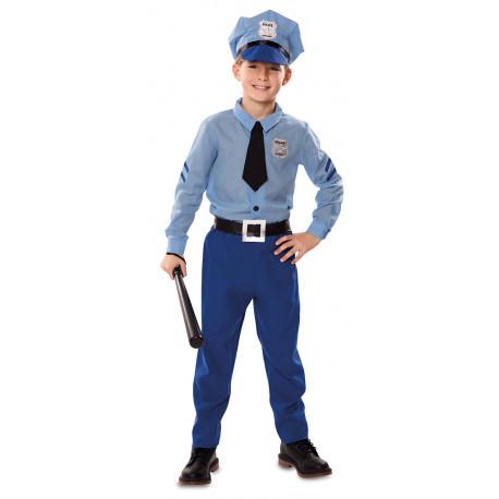 Disfraz de Policía Azul Infantil