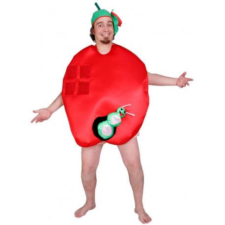 Disfraz de Manzana con Gusano para Adulto