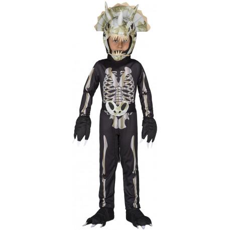 Disfraz de Esqueleto Dinosaurio Triceratops Infantil