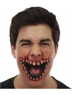 Prótesis de Sonrisa Horripilante Sangrienta