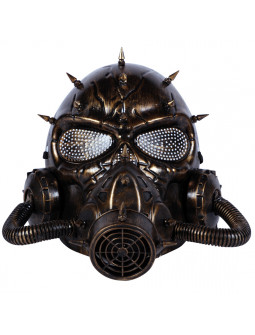 Máscara de Gas Steampunk Dorada