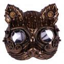 Máscara de Gato Steampunk Dorada