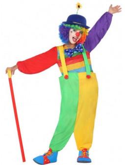 Disfraz de Payasa Multicolor para Niña