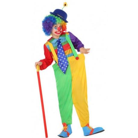 Disfraz de Payaso Multicolor para Niño