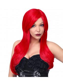 Peluca Roja con Melena Larga Lisa