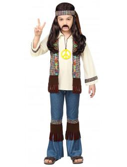 Disfraz de Hippie Años 60 con Chaleco Infantil