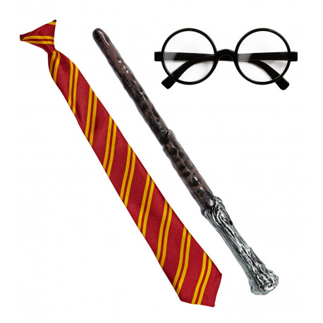Kit de Harry Potter con Gafas, Varita y Corbata